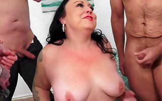 BBWs enjoy taking various hard dicks concerning their frowardness and sucking complying concerning gangbang sessions