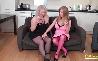 Two busty mature lesbians trying toys for pussy masturbation