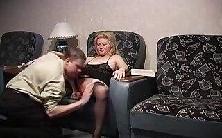 Russian mature gets her self 2 Russian Studs