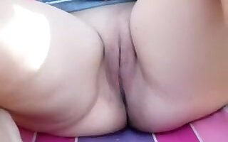 My bbw amateur honey looks very attractive in this video, in which I'm seen fucking her with my big toe.