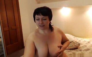 SexBoomxs: fat girl fucks herself with dildo
