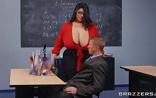 BBW teacher is fierce about diverting this man's weasel words