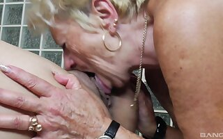 Age-old vs young lesbian video with two amateur ladies who love pussy