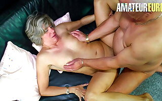 XXX OMAS - Sexy German Wife Knows However To Make the beast Upon two backs Upon Her Man