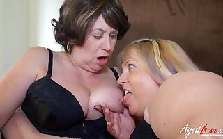 AgedLovE Big-Titted Mommies Enjoying Fixed Group Fucking Love Company