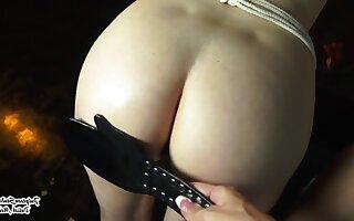 Naughty lesbian girls BDSM porn video